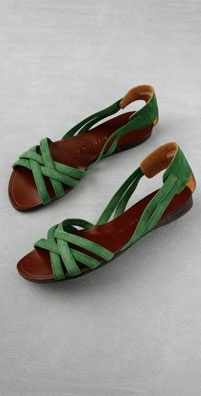 Chie Mihara Shoes Jade Suede Banded Flat Sandal