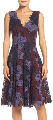 Women's Vera Wang Lace Fit & Flare Dress $348 thestylecure.com