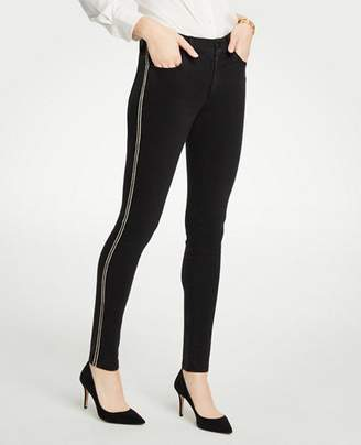 Ann Taylor Tall Modern Shimmer Side Stripe Skinny Jeans
