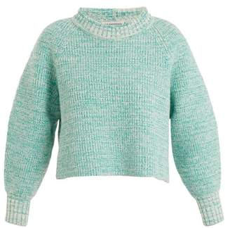 Vika Gazinskaya Cropped Wool Sweater - Womens - Green