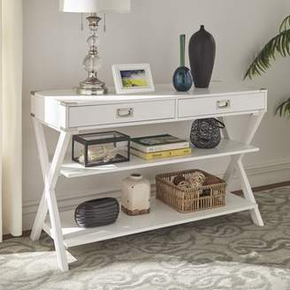 Stillwater Weston Home Double Drawer TV Media Console Table, Multiple Colors