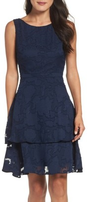 Women's Taylor Dresses Tiered Burnout Organza Dress $118 thestylecure.com