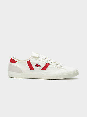 Lacoste New Womens Sideline 119 1 Cfa Sneakers In Off White Red Womens