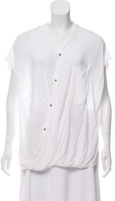 Helmut Lang Short Sleeve V-Neck Top