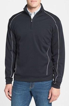 Men's Cutter & Buck 'Drytec Edge' Half Zip Mesh Pullover $82 thestylecure.com