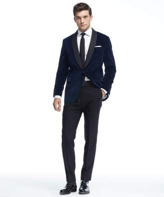 Todd Snyder Sutton Shawl Collar Tuxedo Jacket in Blue Velvet