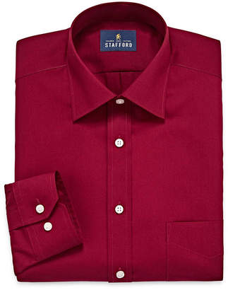 STAFFORD Stafford Travel Easy-Care Broadcloth-Big & Tall Long Sleeve Dress Shirt