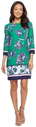 Vince Camuto Printed 3/4 Sleeve T Body Dress Women's Dress