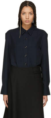 Lemaire Navy Tie Back Overshirt