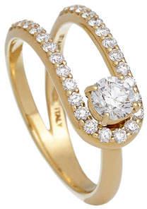 anima ISTANBOULLI GIOIELLI 18k Looped Diamond Ring, Size 5.5