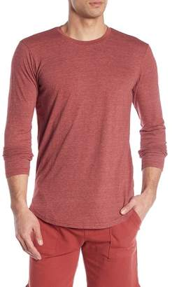 Goodlife Triblend Scallop Long Sleeve Crew Neck T-Shirt