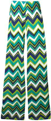 M Missoni green flared trousers