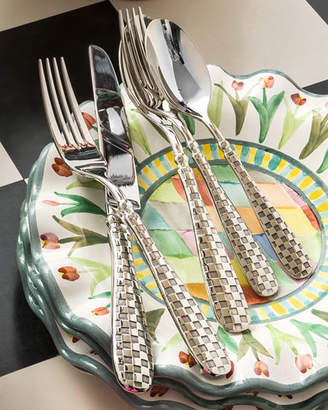 MacKenzie-Childs 5-Piece Check Flatware Place Setting
