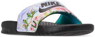 Nike Women Benassi Just Do It Print Slide Sandals from Finish Line