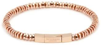Tateossian 'Mini Click' silver disc bead bracelet