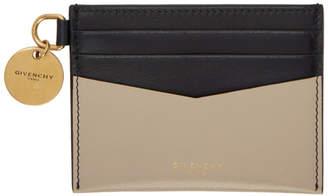 Givenchy (ジバンシイ) - Givenchy ベージュ & ブラック エッジ カード ホルダー