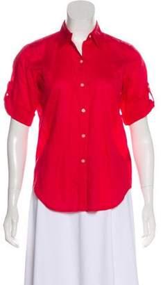 Lauren Ralph Lauren Short Sleeve Button-Up Top