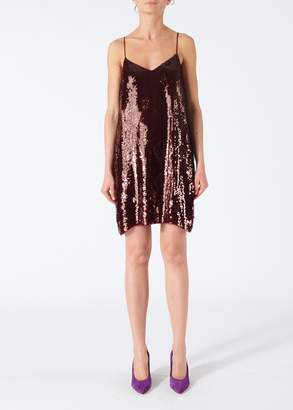 Tibi Sequined Slip Dress