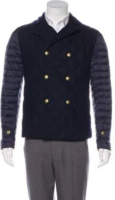 Moncler Gamme Bleu Padded Double-Breasted Jacket