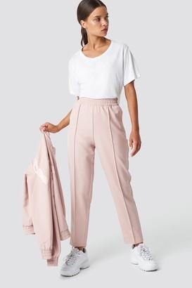 NA-KD Na Kd Elastic Waist Seamline Pants Dusty Pink