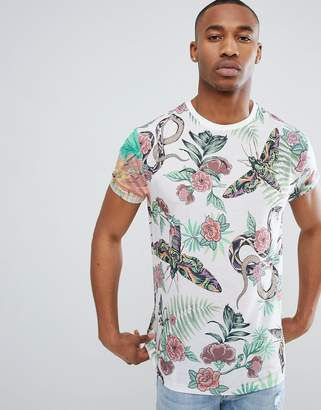 Asos DESIGN relaxed t-shirt with all over floral insect print