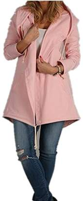 ZAWAPEMIA Women Fleece Casual Cardigan Hoodies Sweatshirts Tunic Sweater Outerwear Coat Jacket L