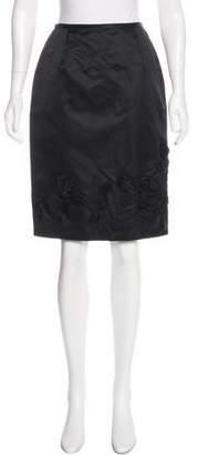 Lela Rose Wool Knee-Length Skirt