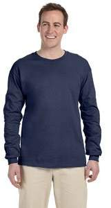 Fruit of the Loom Adult Heavy Cotton HD Long-Sleeve T-Shirt (3X-Large)