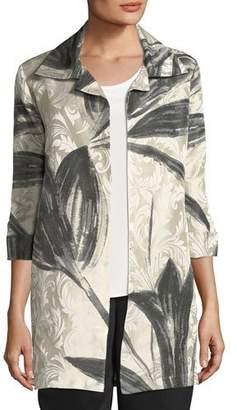 Caroline Rose Natural Light Jacquard Jacket, Plus Size