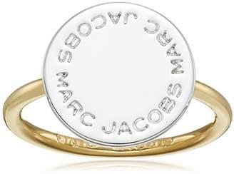 Marc Jacobs Mixed Metal Logo Disc Ring