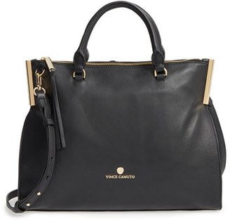 Vince Camuto Tina Leather Satchel - Black $248 thestylecure.com