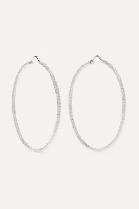 Carolina Bucci Florentine 18-karat White Gold Hoop Earrings - one size