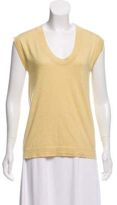 Brunello Cucinelli Sleeveless Scoop Neck Top
