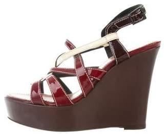 Barbara Bui Patent Leather Sandal Wedges