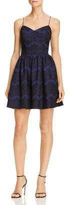 Aqua Bonded Lace Fit-and-Flare Dress - 100% Exclusive