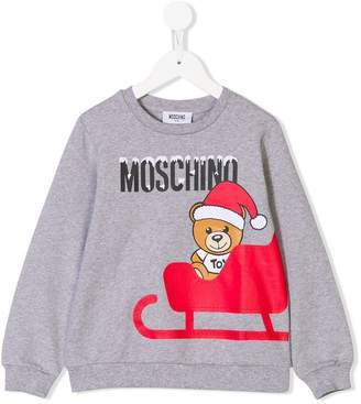 Moschino Kids Christmas teddy bear print sweatshirt