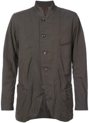 Ziggy Chen round neck buttoned jacket