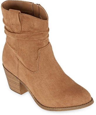 POP Womens Eilat Cowboy Boots Block Heel
