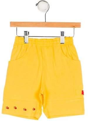 Catimini Boys' Appliqué-Accented Knit Shorts