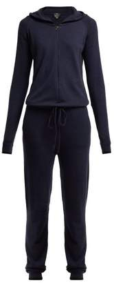 Pepper & Mayne - Cashmere Hooded Jumpsuit - Womens - Navy