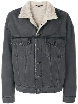 Yeezy faux shearling denim jacket