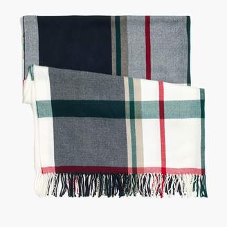 J.Crew Factory Plaid blanket scarf