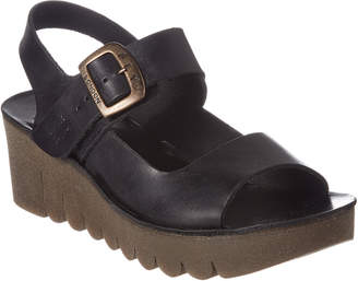 Fly London Yail Leather Wedge Sandal