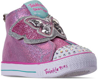 Skechers Toddler Girls' Twinkle Toes: Shuffle Lite - Flutter Floaties High-Top Casual Sneakers from Finish Line