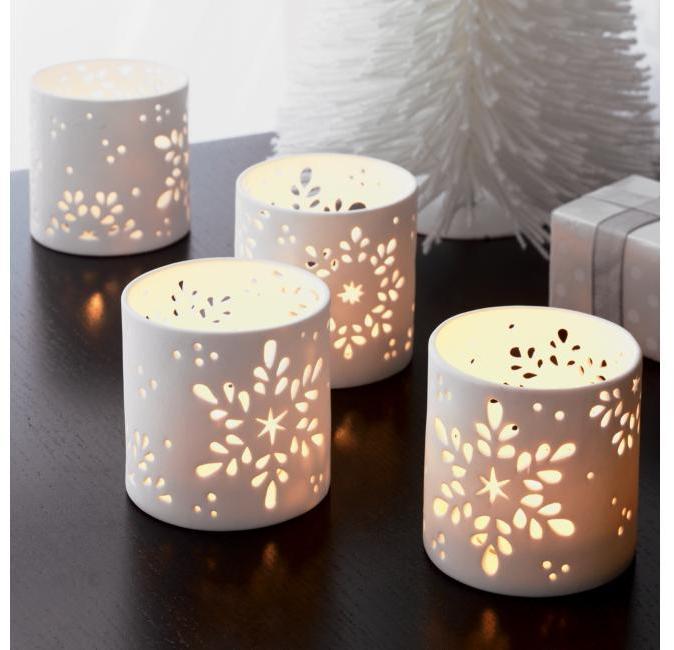 Snowflake Candleholders Set of Two