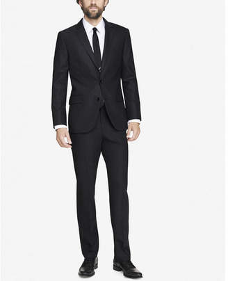 Express modern producer end-on-end gray suit jacket