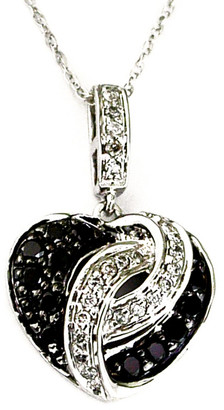 LeVian Suzy Diamonds Suzy 14K 0.37 Ct. Tw. Black & White Diamond Intertwine Heart Necklace