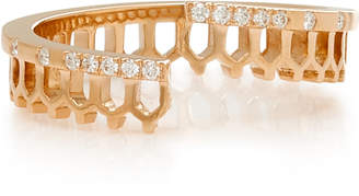 Nouvel Heritage Simple Some 18K Rose Gold And Diamond Ring