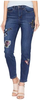 FDJ French Dressing Jeans Floral Embroidered Olivia Slim Ankle Women's Casual Pants