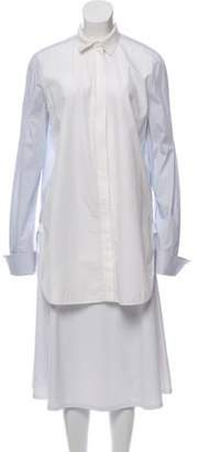 Celine Striped Button-Up Top White Striped Button-Up Top